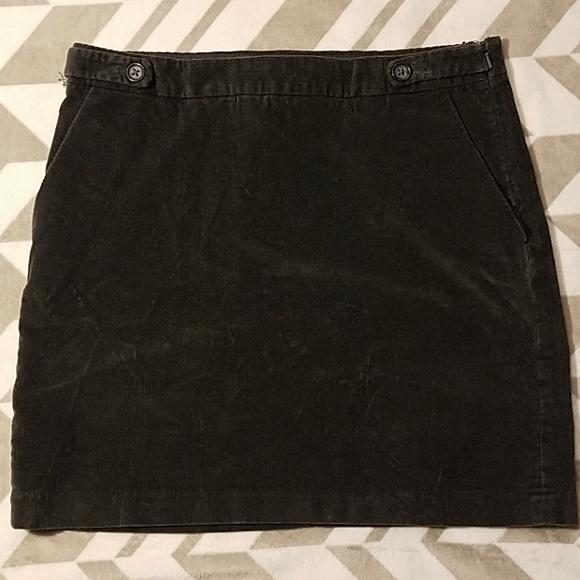 Banana Republic Dresses & Skirts - Banana Republic Dark Gray Corduroy Skirt Sz 8